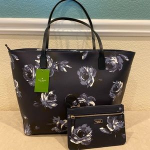 Kate Spade Rose Tote Bag Purse
